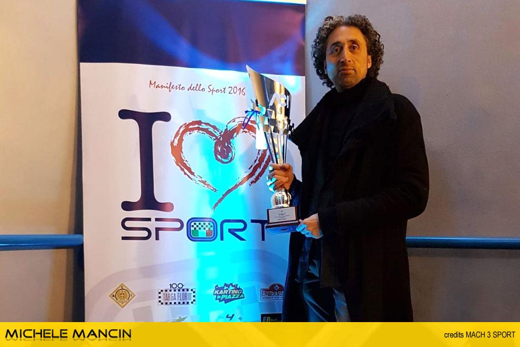 Mancin premiato a Monza, da ACI Sport, per il TIVM